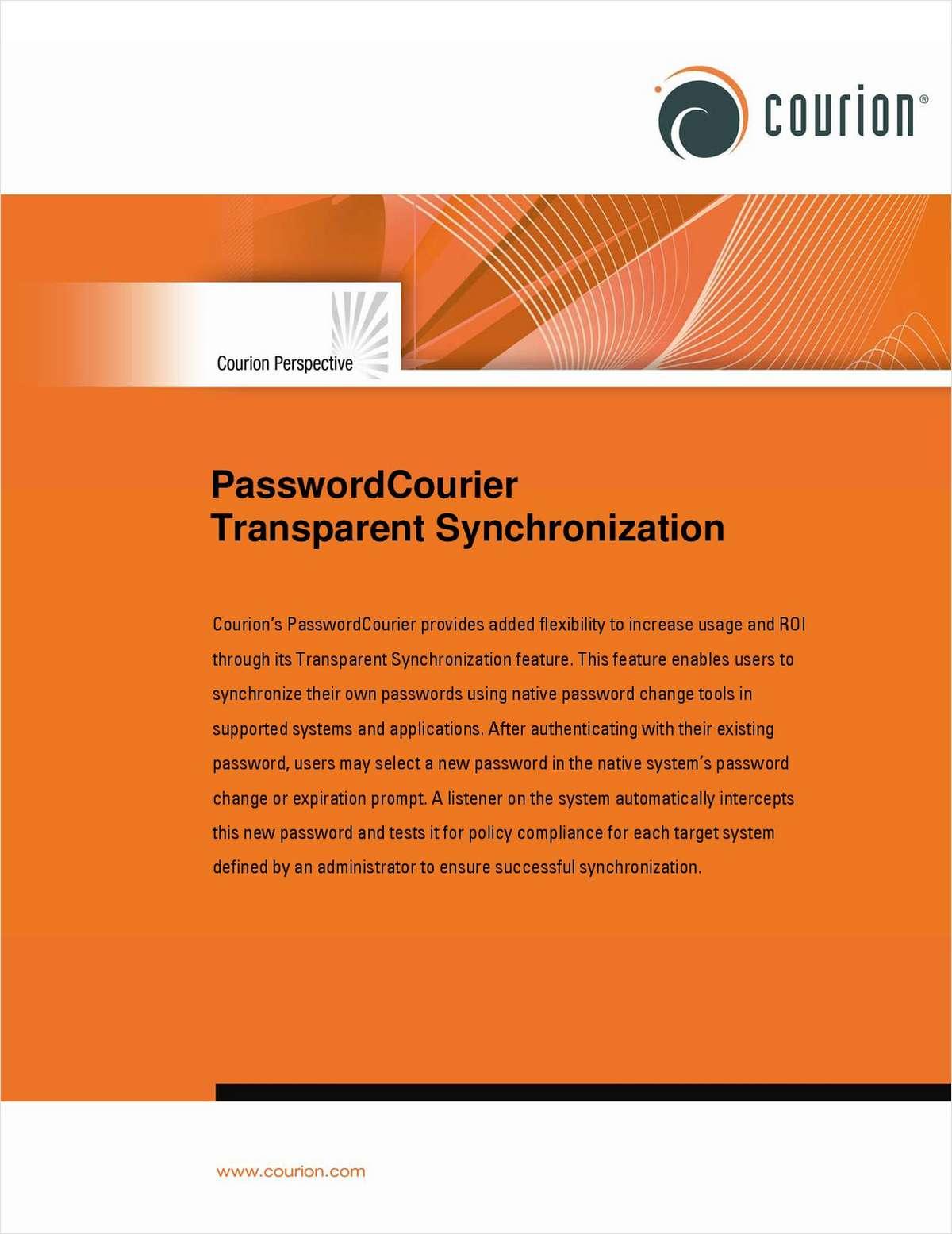 PasswordCourier Transparent Synchronization