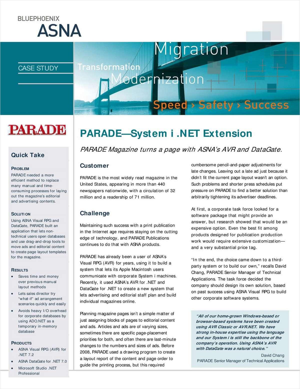 Case Study: Parade Magazine - System i .NET Extension