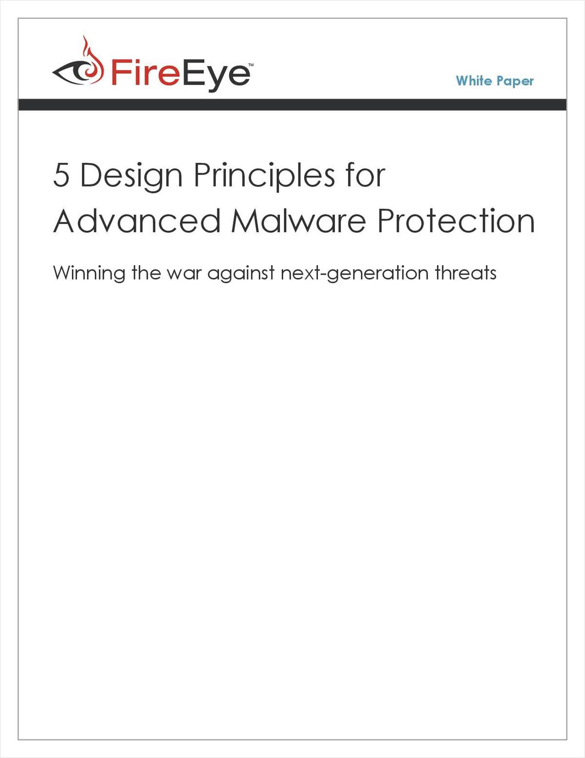 5 Design Principles for Advanced Malware Protection