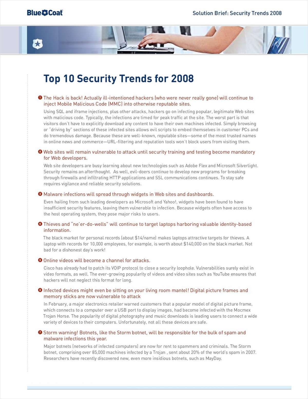 Top 10 Security Trends for 2008