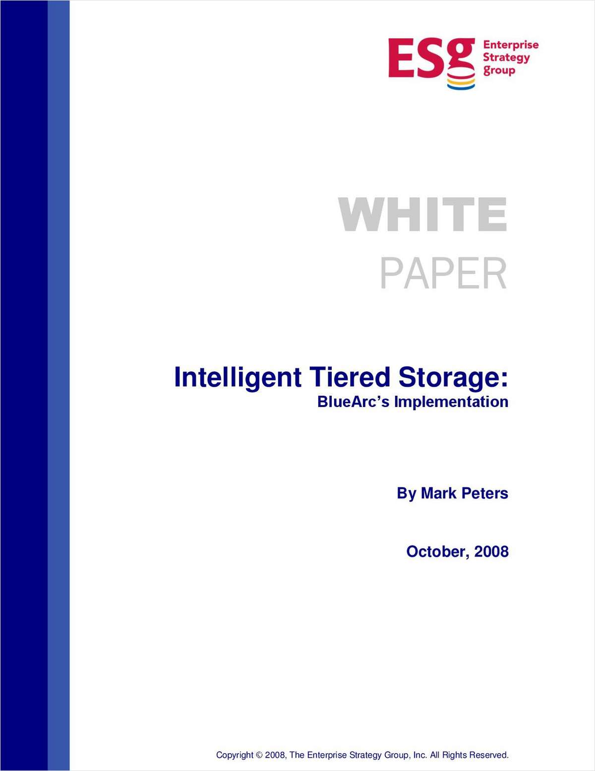 Intelligent Tiered Storage: BlueArc's Implementation
