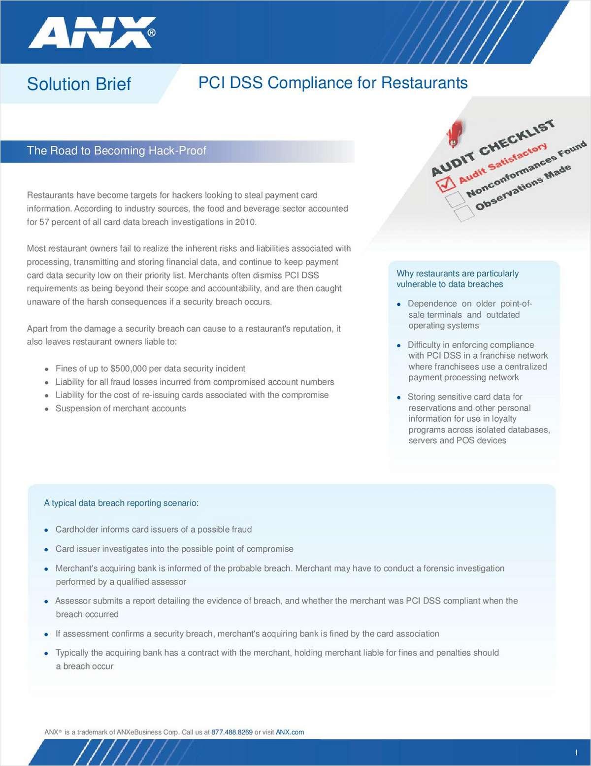 PCI DSS Compliance for Restaurants