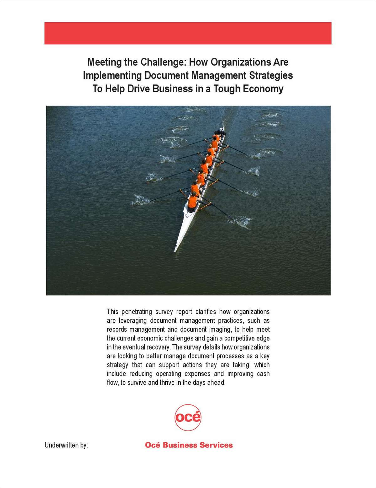 How Organizations are Implementing Document Management Strategies to Help Drive Business in a Tough Economy