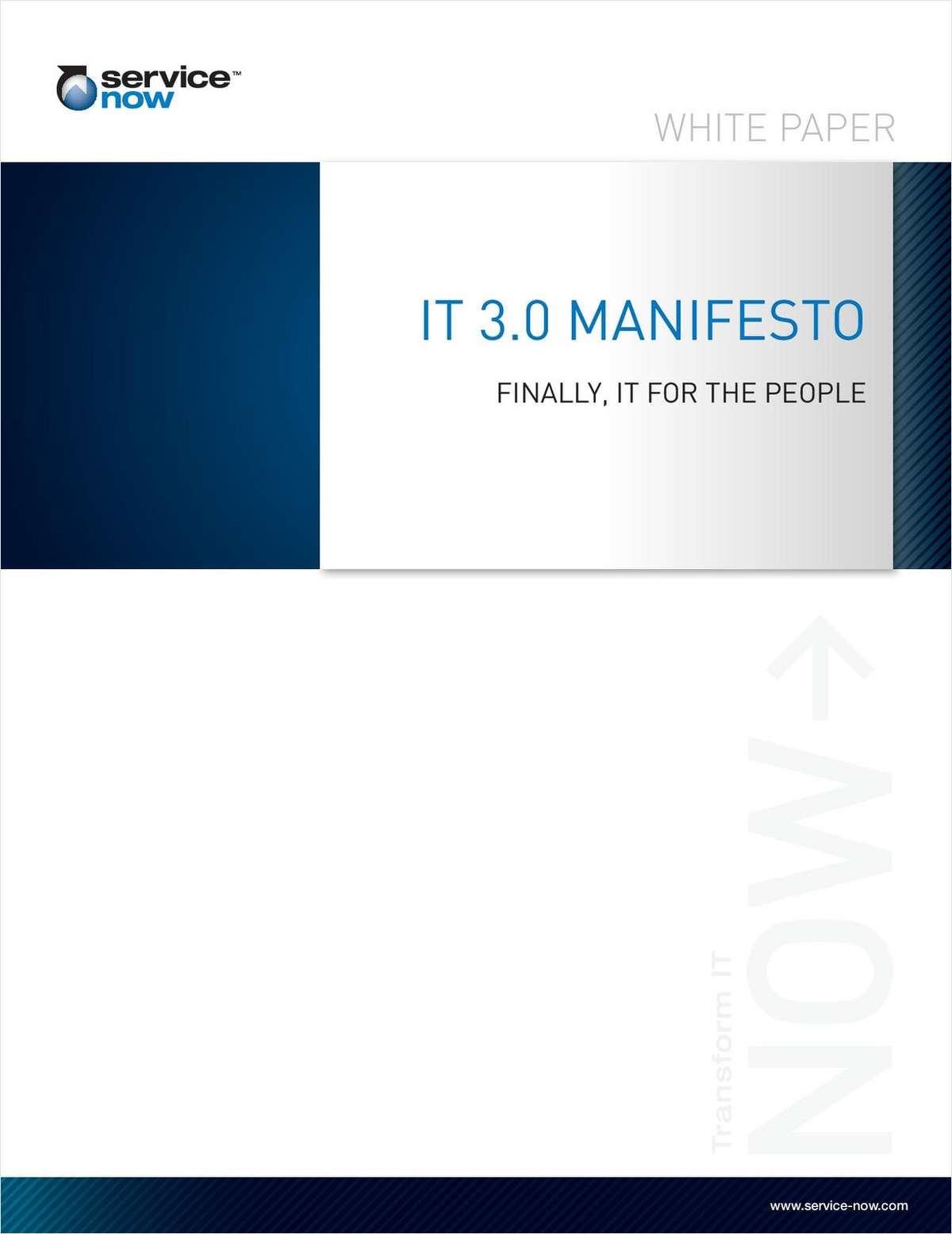 IT 3.0 Manifesto - Finally, IT for the People