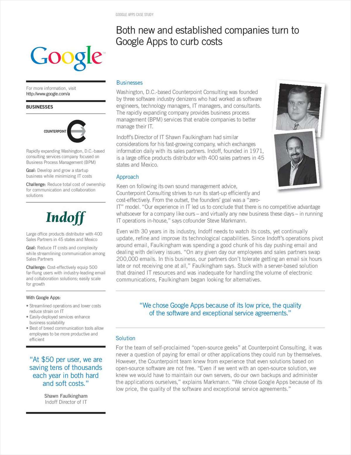Curbing Costs with Google Apps