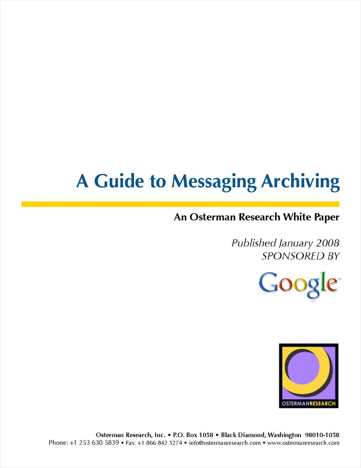 A Guide to Messaging Archiving