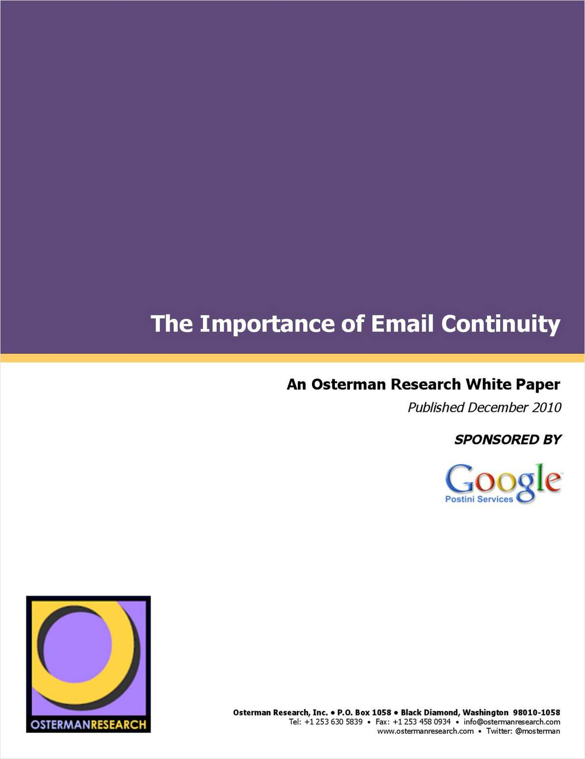 The Importance of Email Continuity