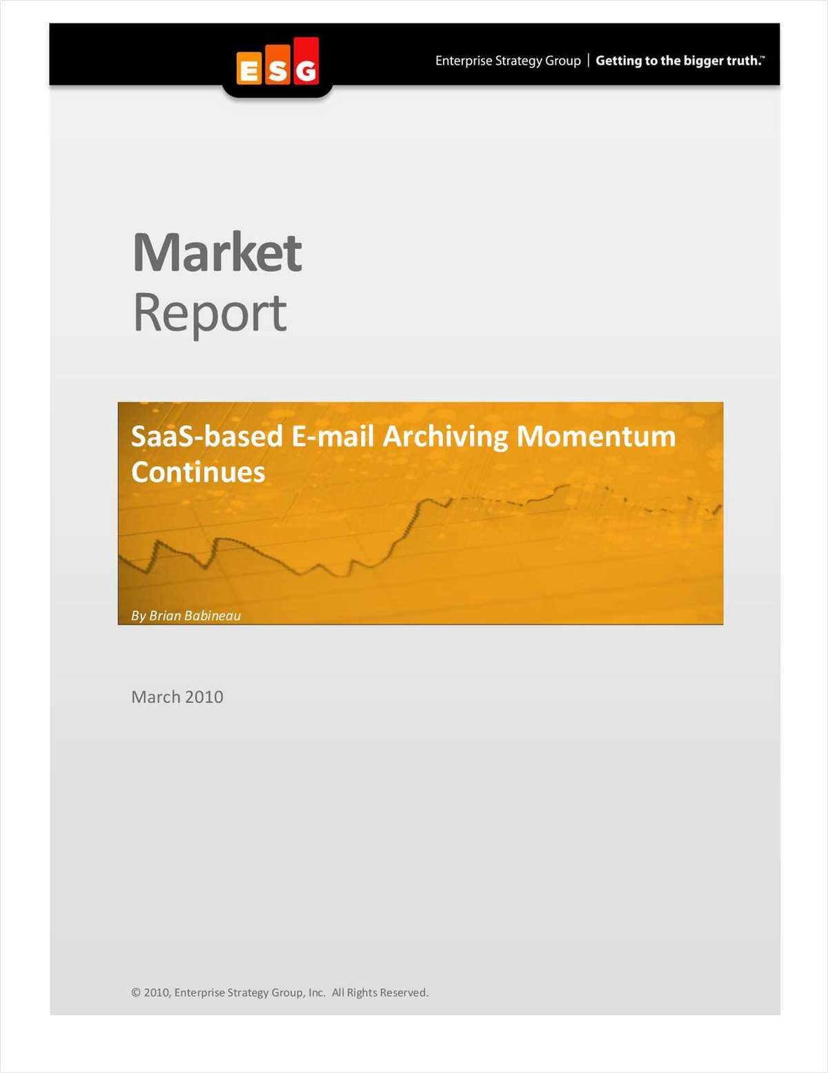 Enterprise Strategy Group Report on SaaS Archiving