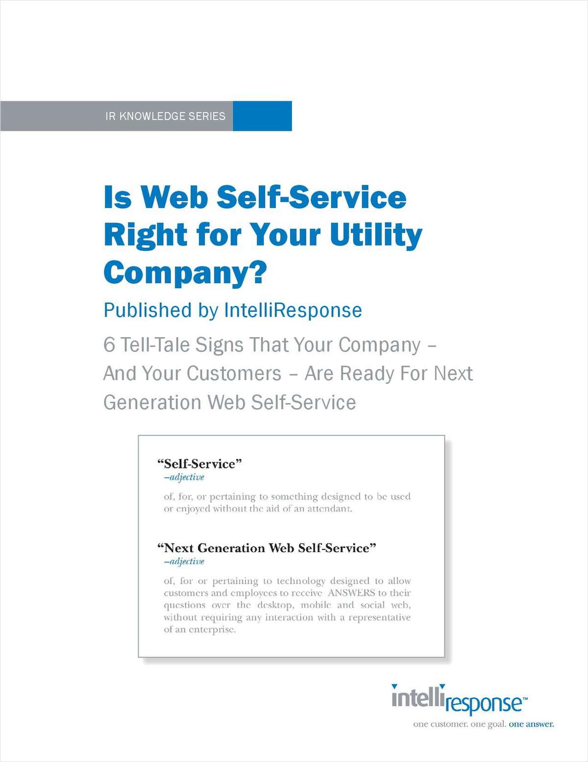 Is Web Self-Service Right for Your Utility Company?