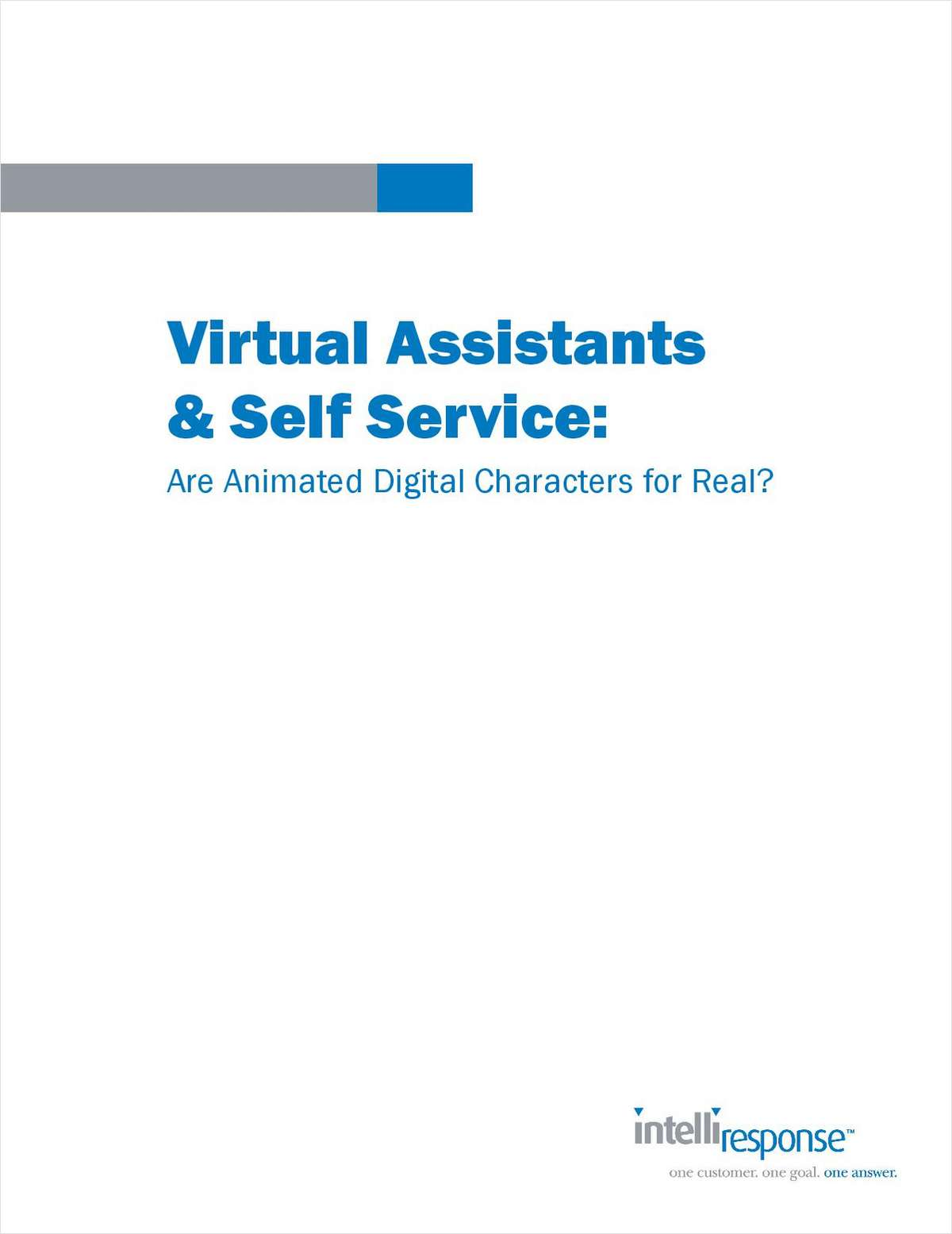 Virtual Assistants & Self Service: Are Animated Digital Characters for Real?