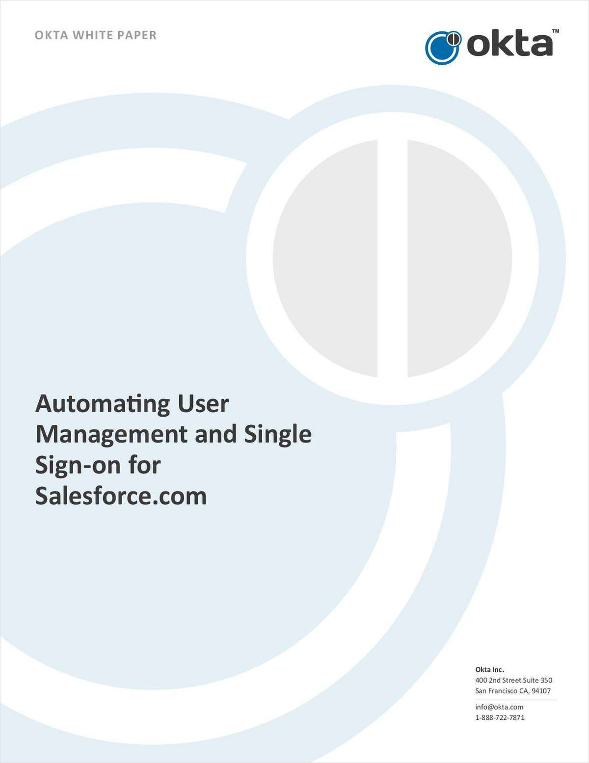 Automating User Management and Single Sign-on for Salesforce.com