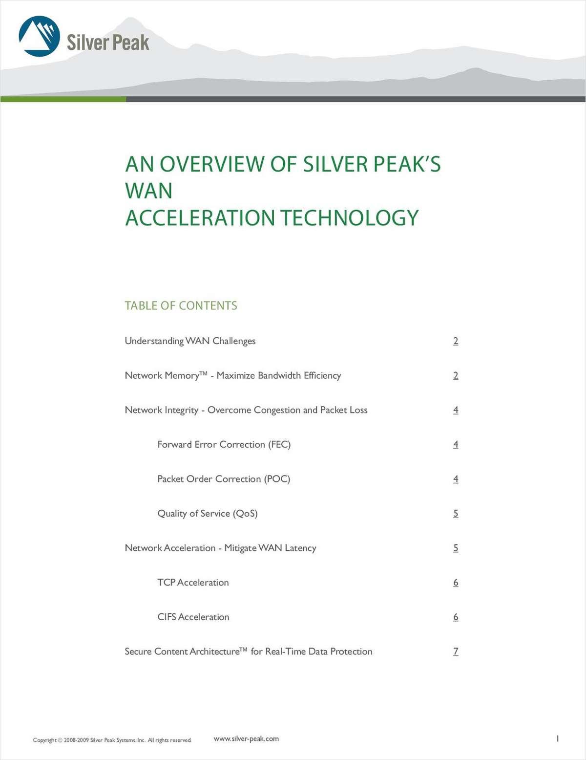 Dissolving Distance: Silver Peak's Technology Overview