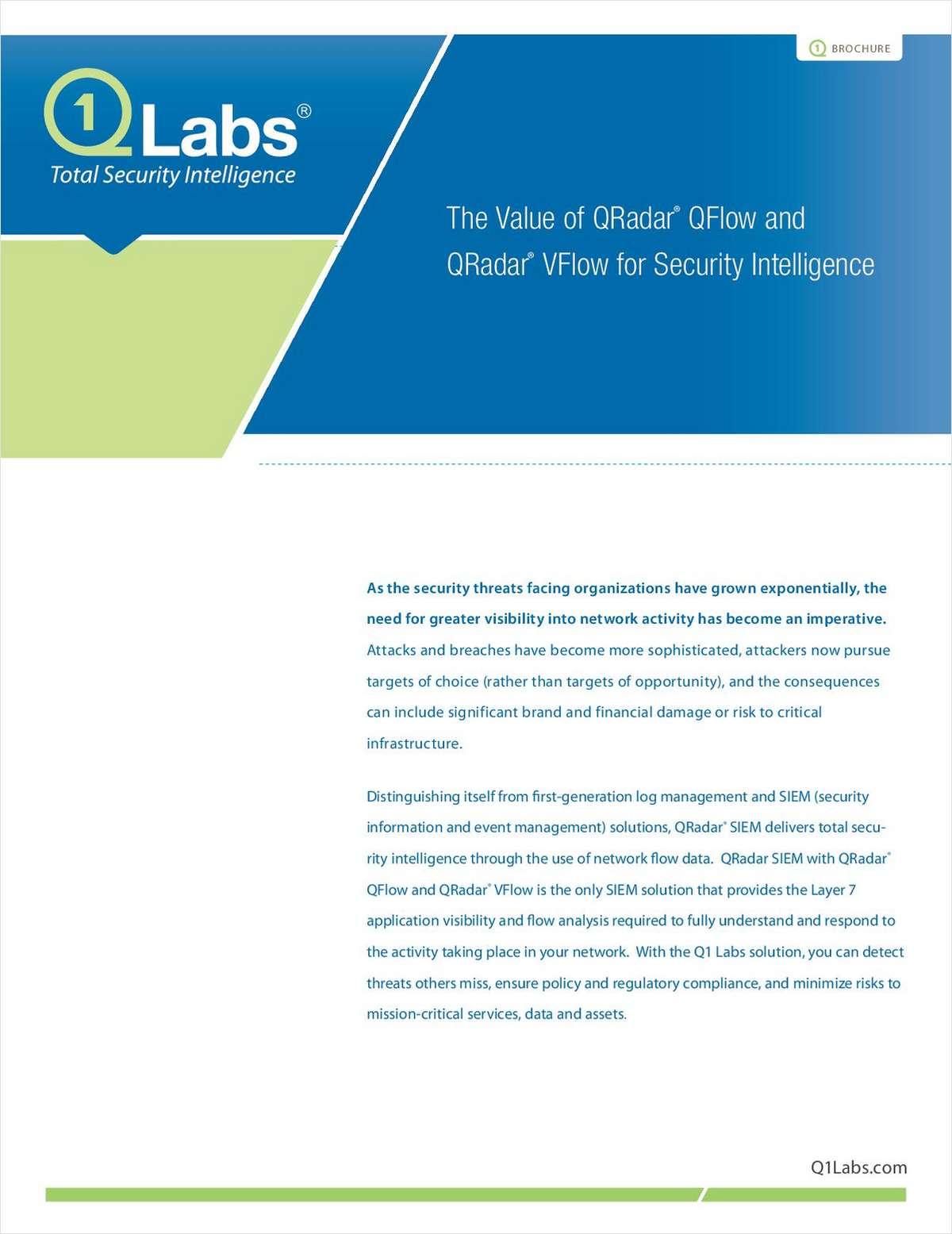 The Value of QRadar® QFlow and QRadar® VFlow for Security Intelligence