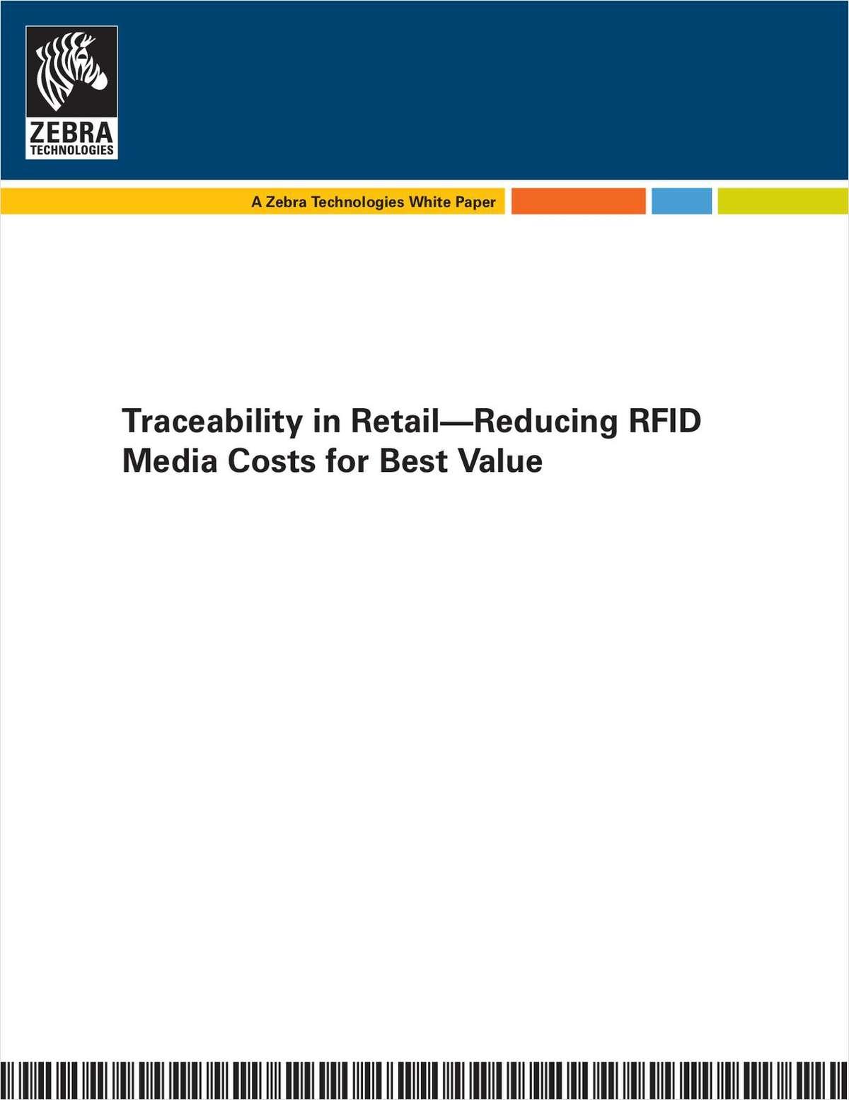 Traceability in Retail--Reducing RFID Media Costs for Best Value