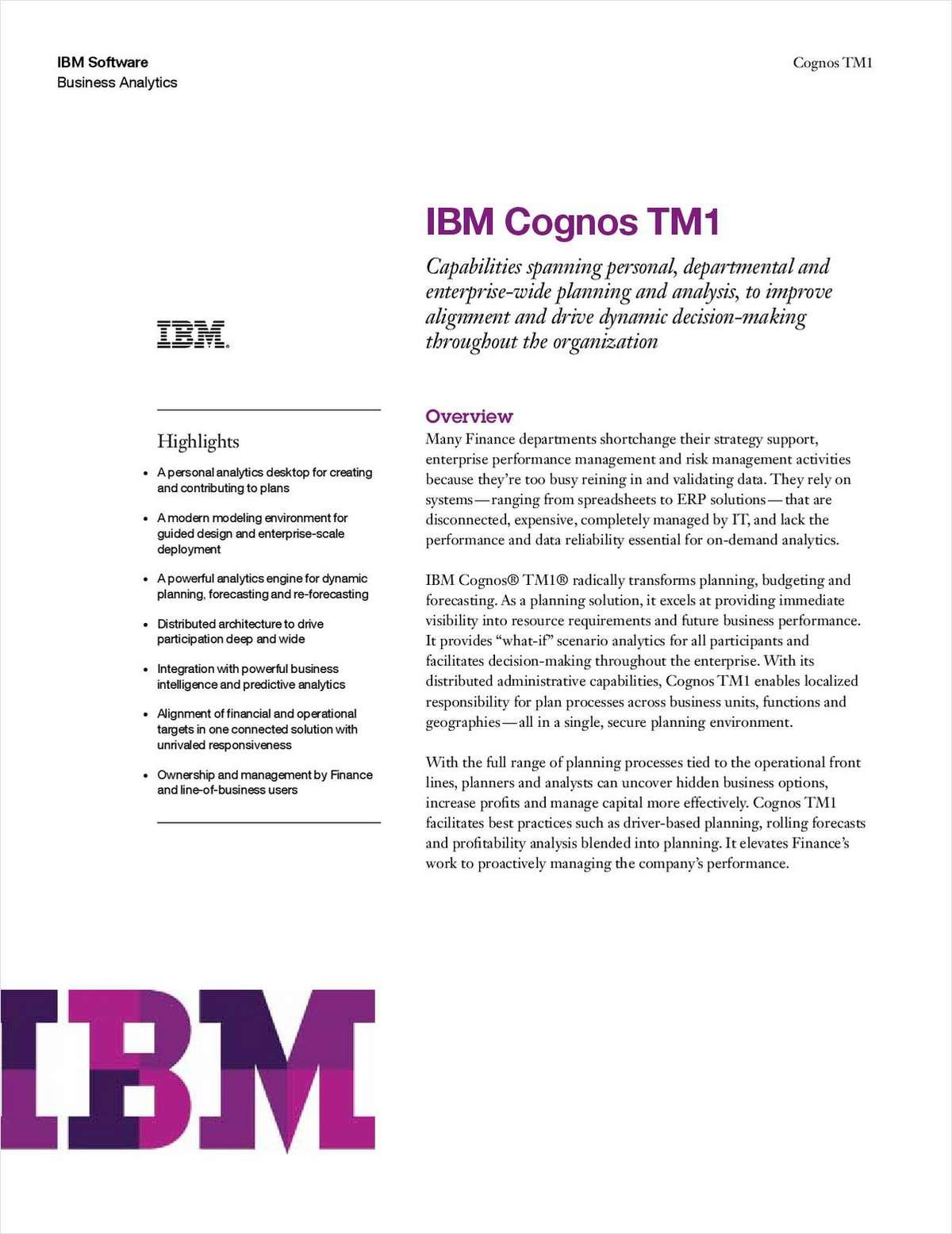 IBM Cognos® TM1®
