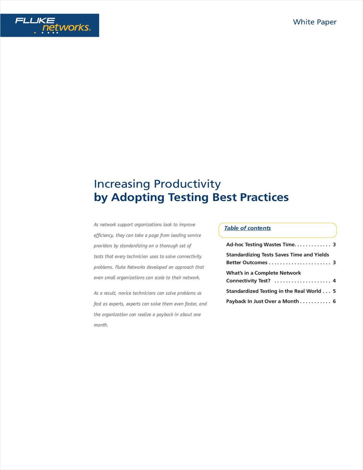 Increasing Productivity by Adopting Testing Best Practices