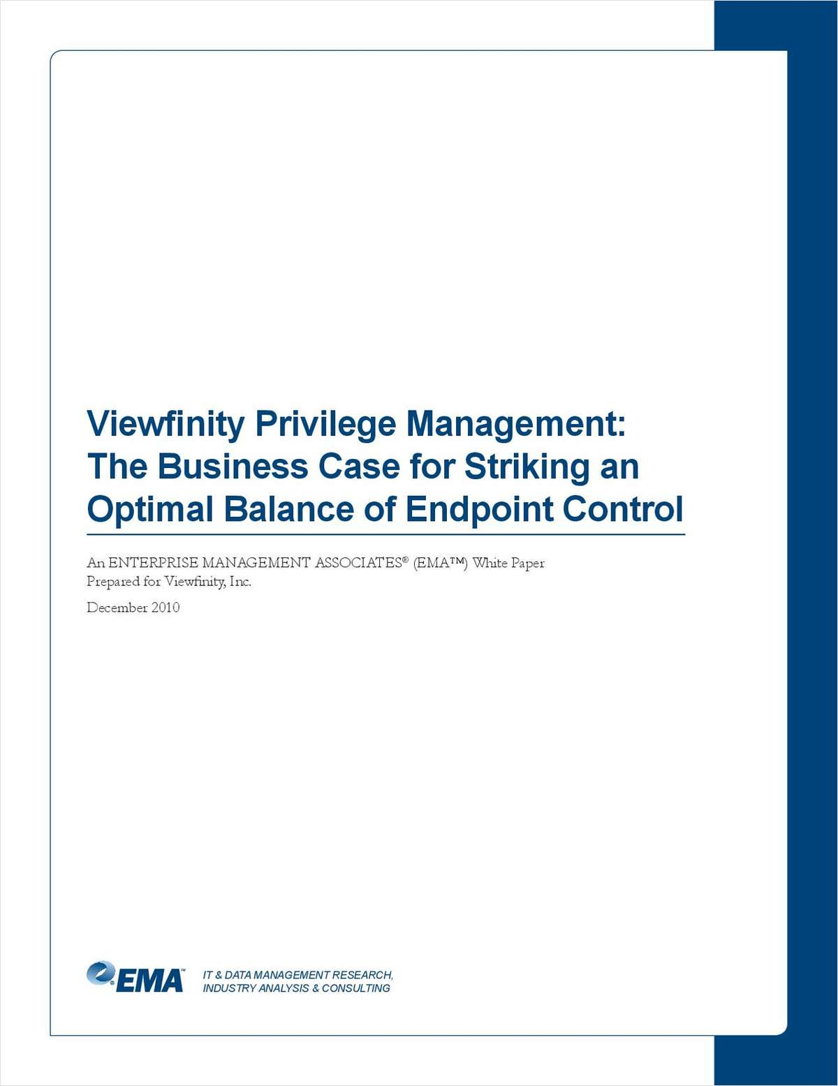 EMA Research: The Business Case for Striking an Optimal Balance of Endpoint Control