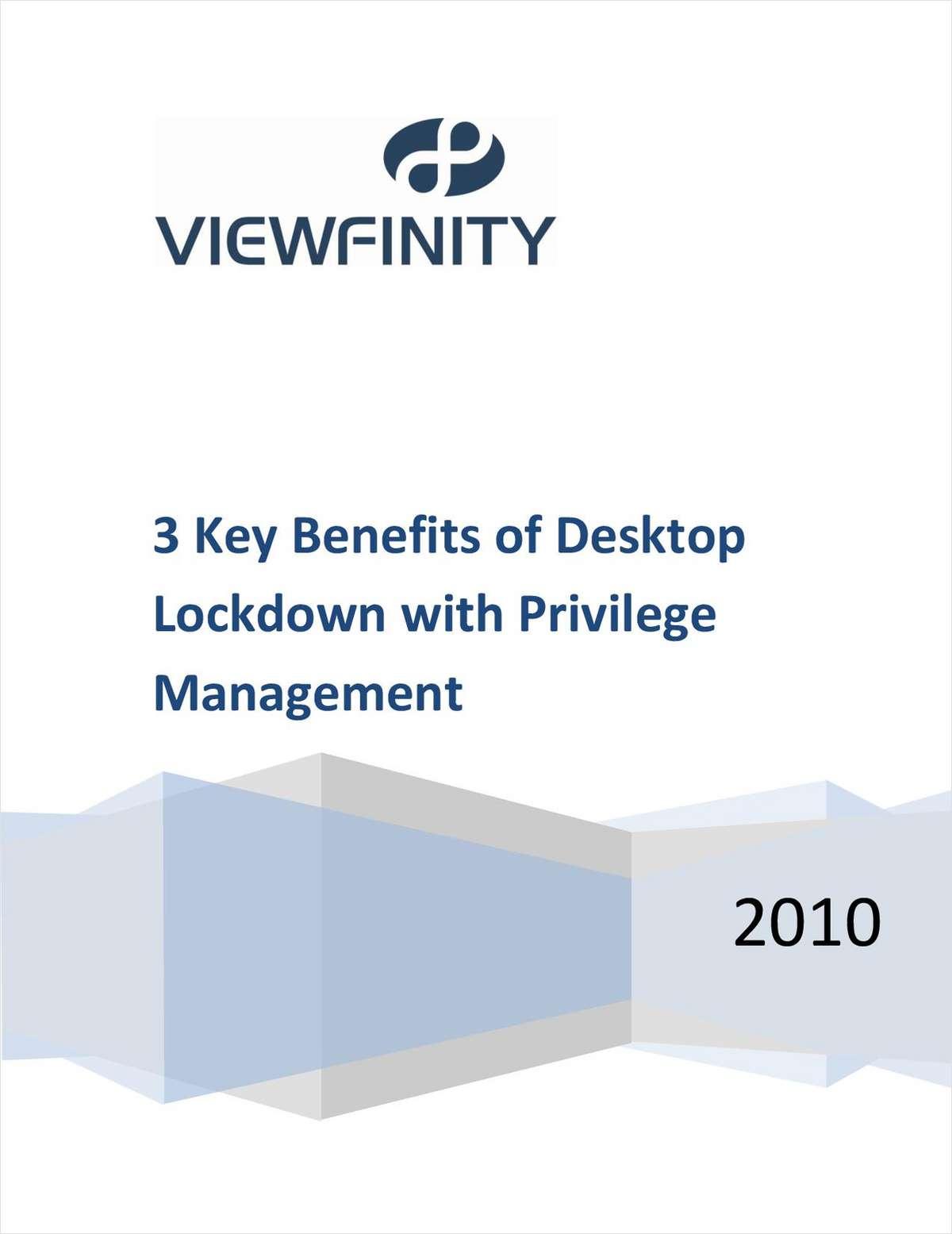 3 Key Benefits of Desktop Lockdown with Privilege Management