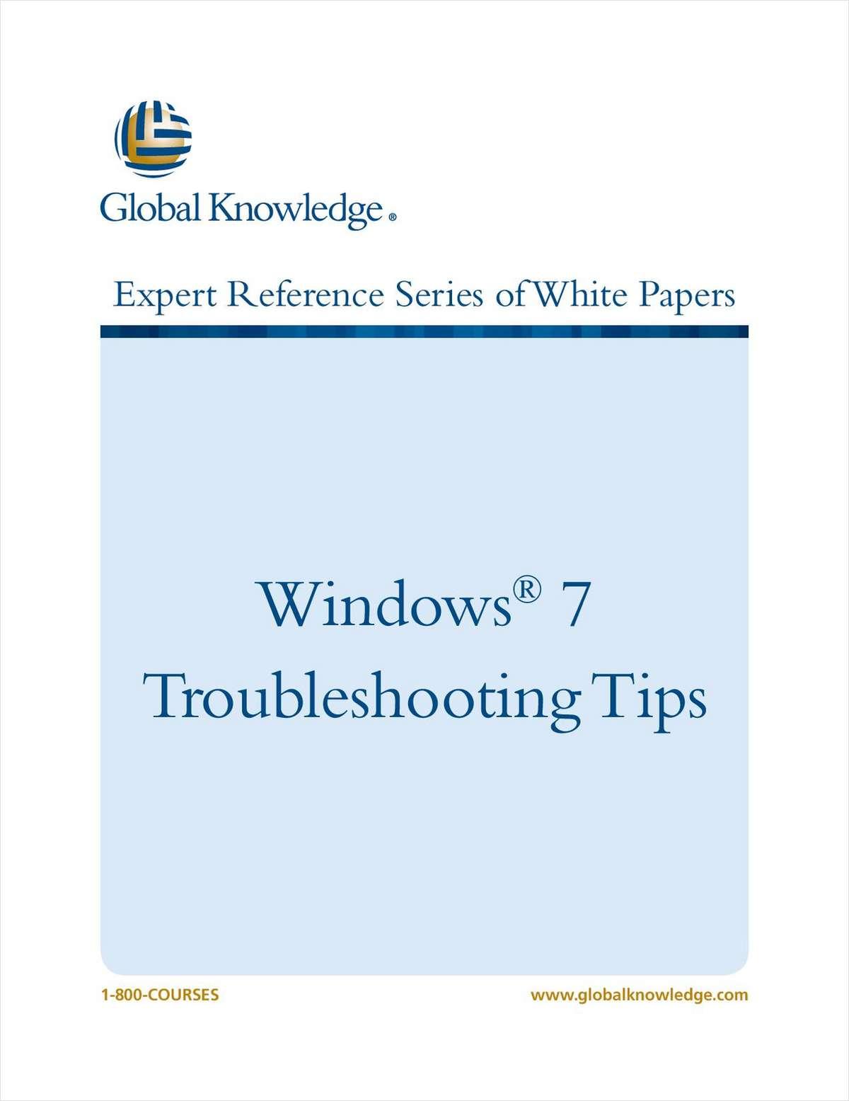 Windows 7 Troubleshooting Tips