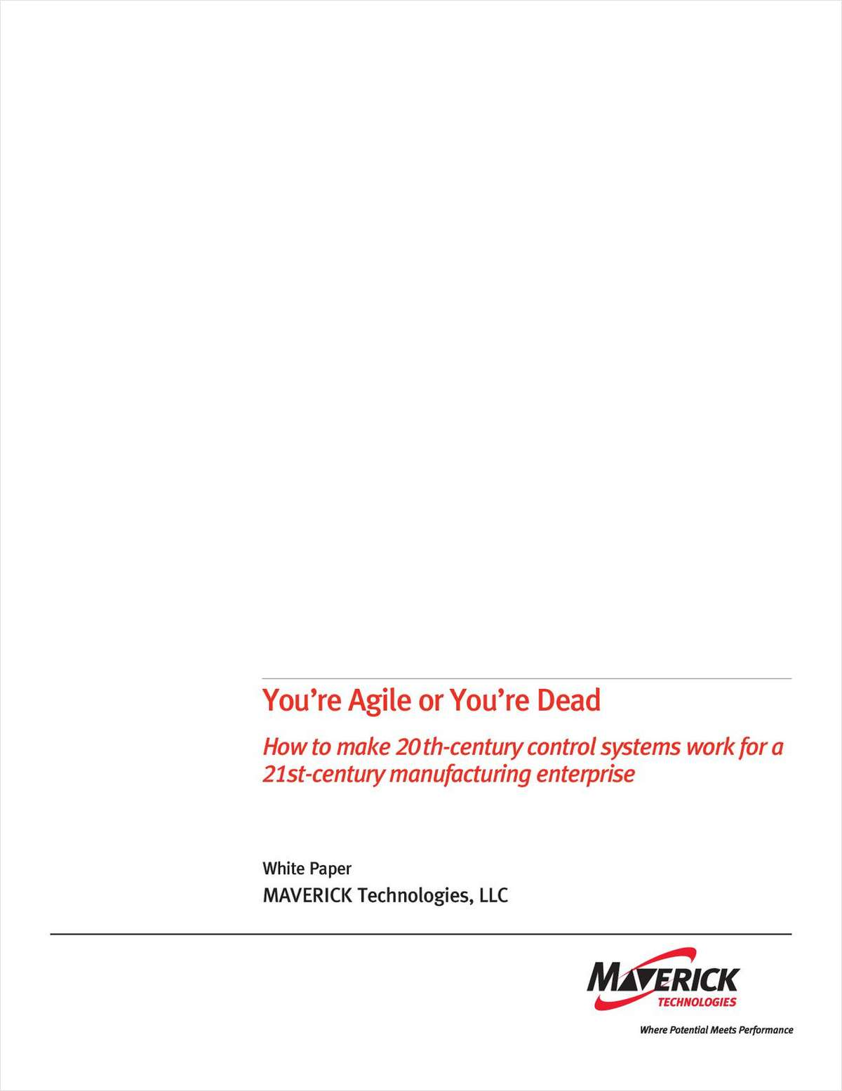 DCS White Paper: You're Agile or You're Dead