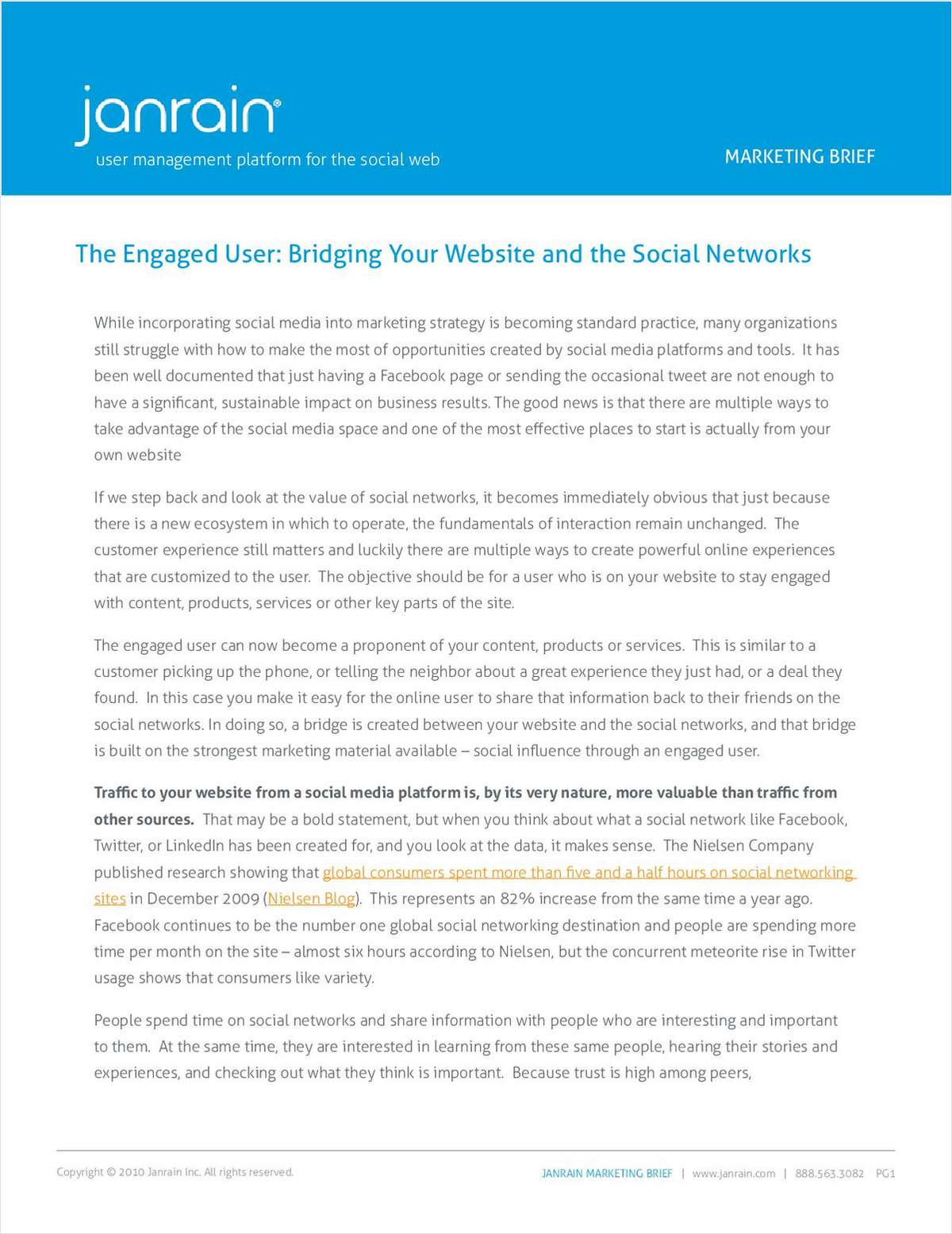 The Engaged User: Bridging Your Website and Social Networks