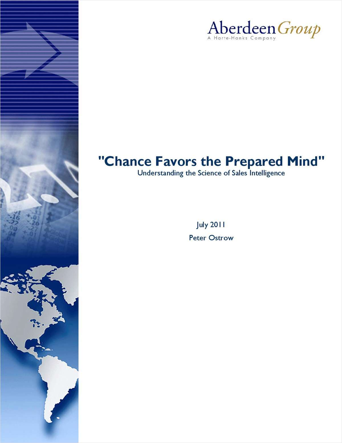 Chance Favors the Prepared Mind: Understanding the Science of Sales Intelligence