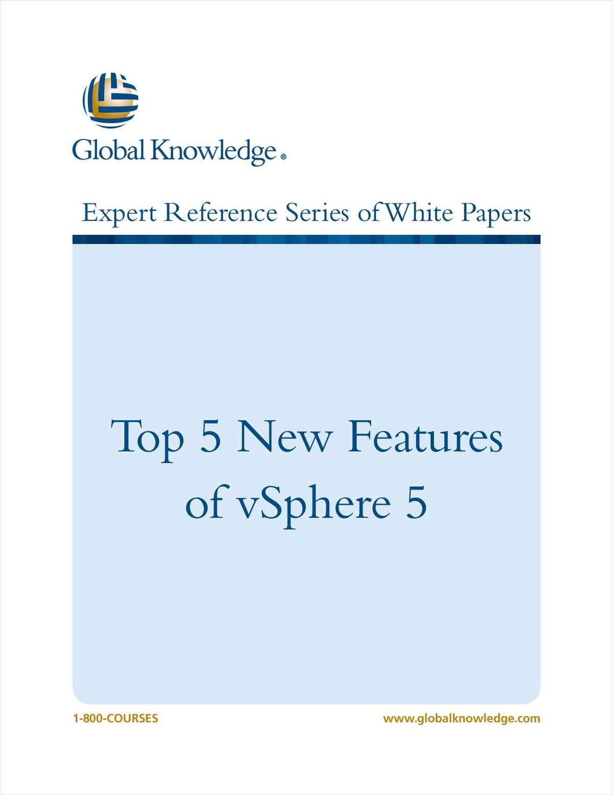 Top 5 New Features of vSphere 5