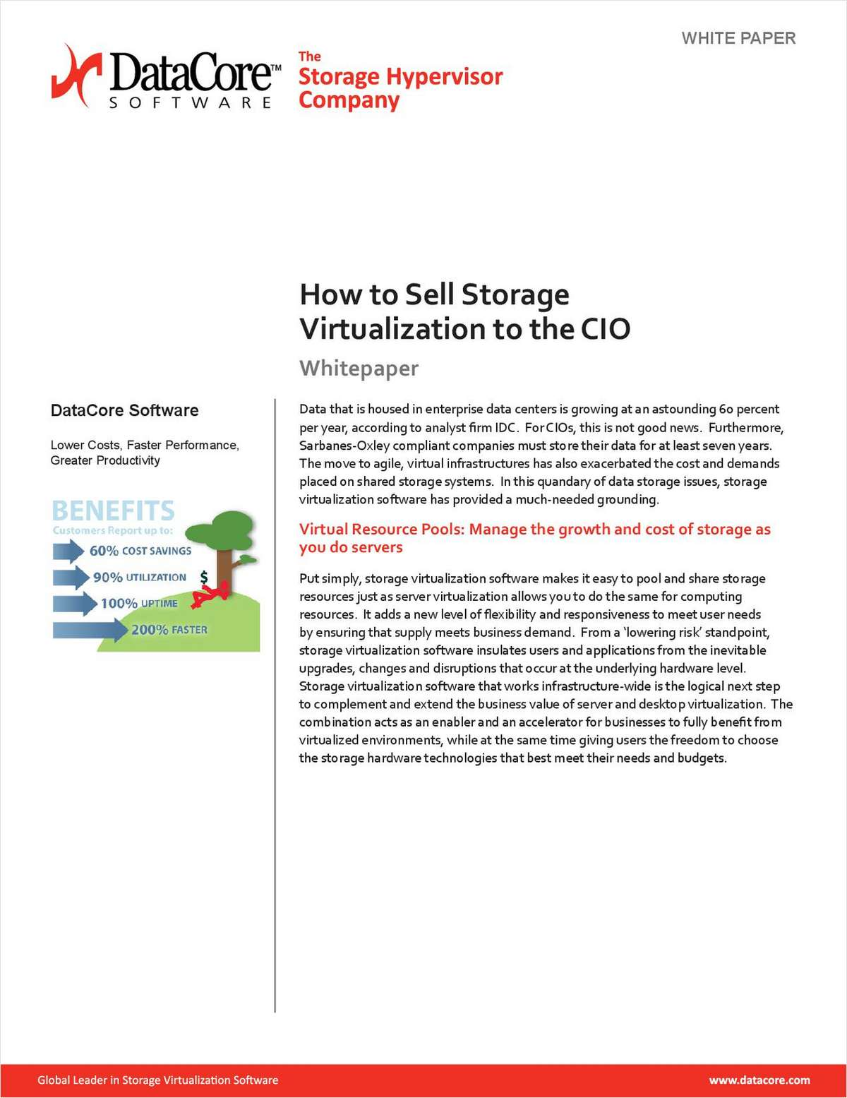 How to Sell Storage Virtualization to Your CIO