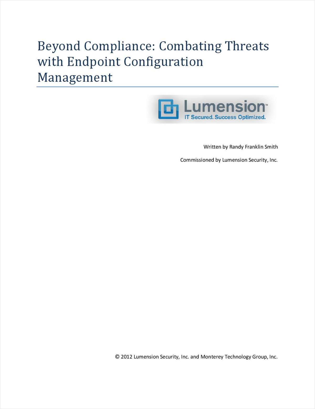 Beyond Compliance: Combating Threats with Endpoint Configuration Management