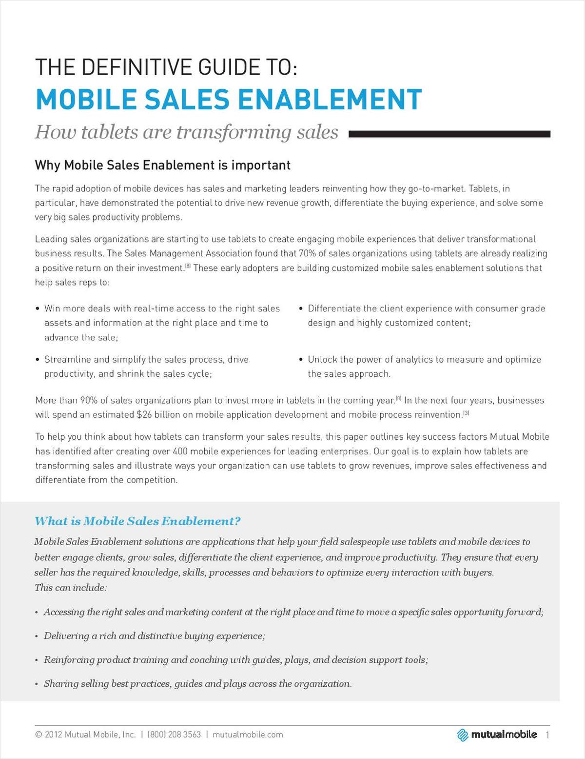 The Definitive Guide to Mobile Sales Enablement