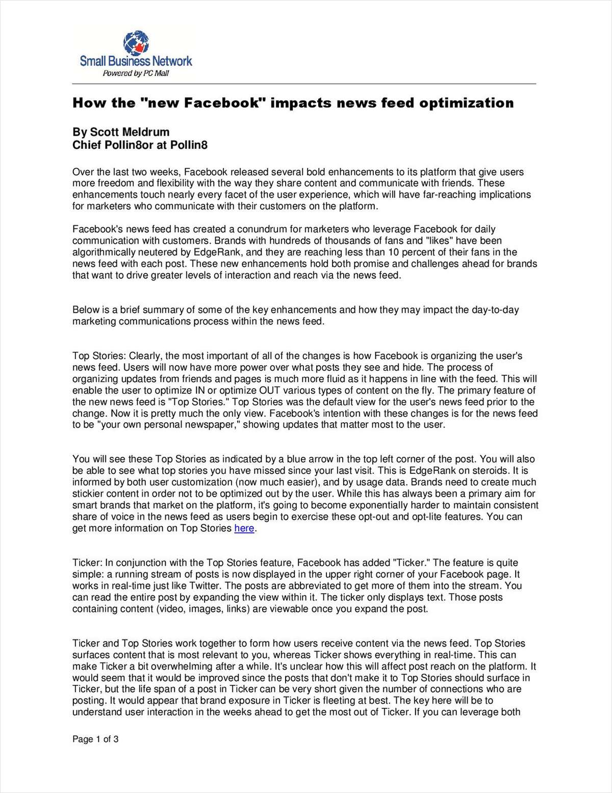 How The 'New Facebook' Impacts News Feed Optimization