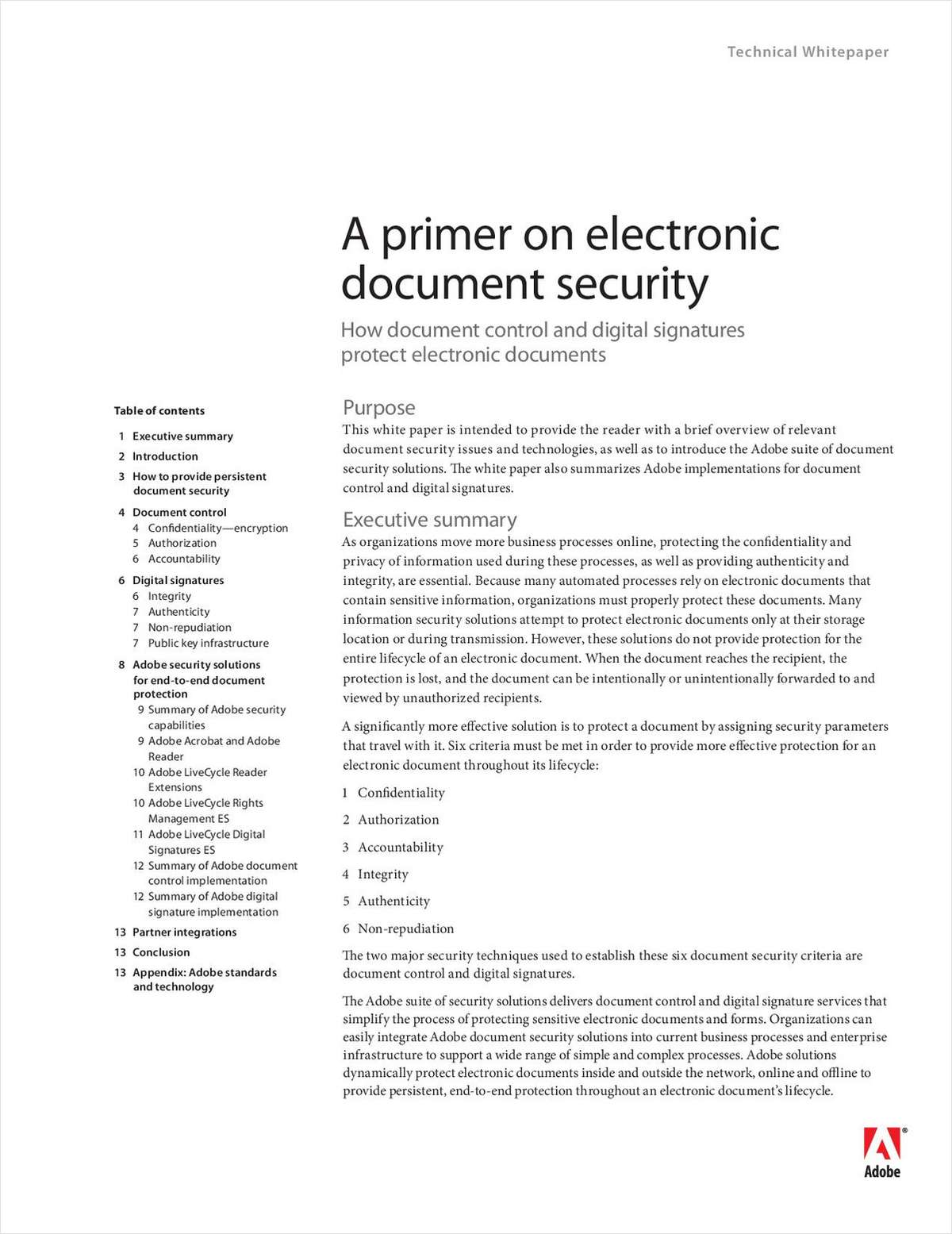 A Primer On Electronic Document Security