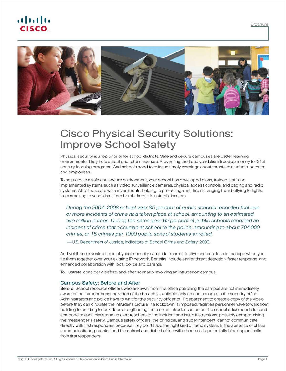 Cisco Physical Security Solutions: Improve School Safety