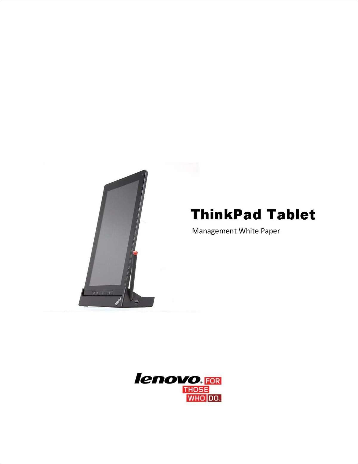 ThinkPad Tablet Management