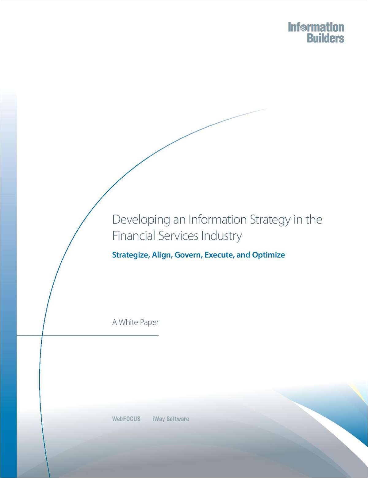 Developing an Information Strategy in the Financial Services Industry