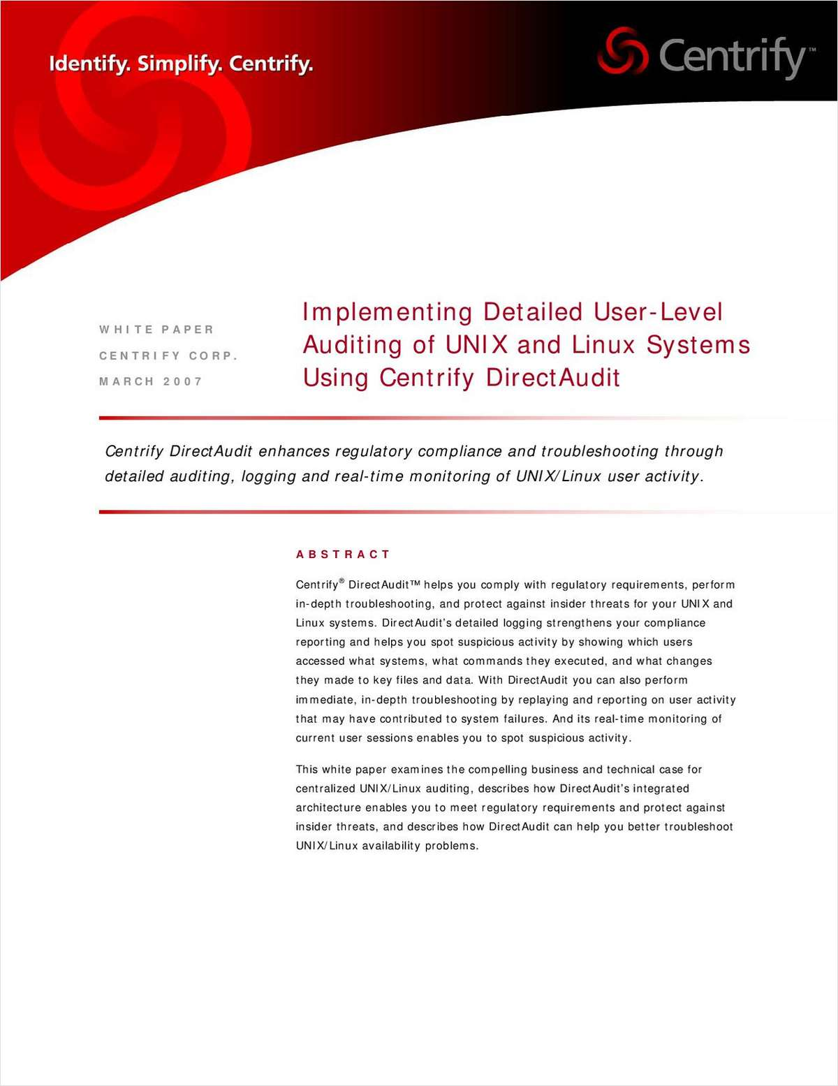 Implementing Detailed User-Level Auditing of UNIX & Linux Systems