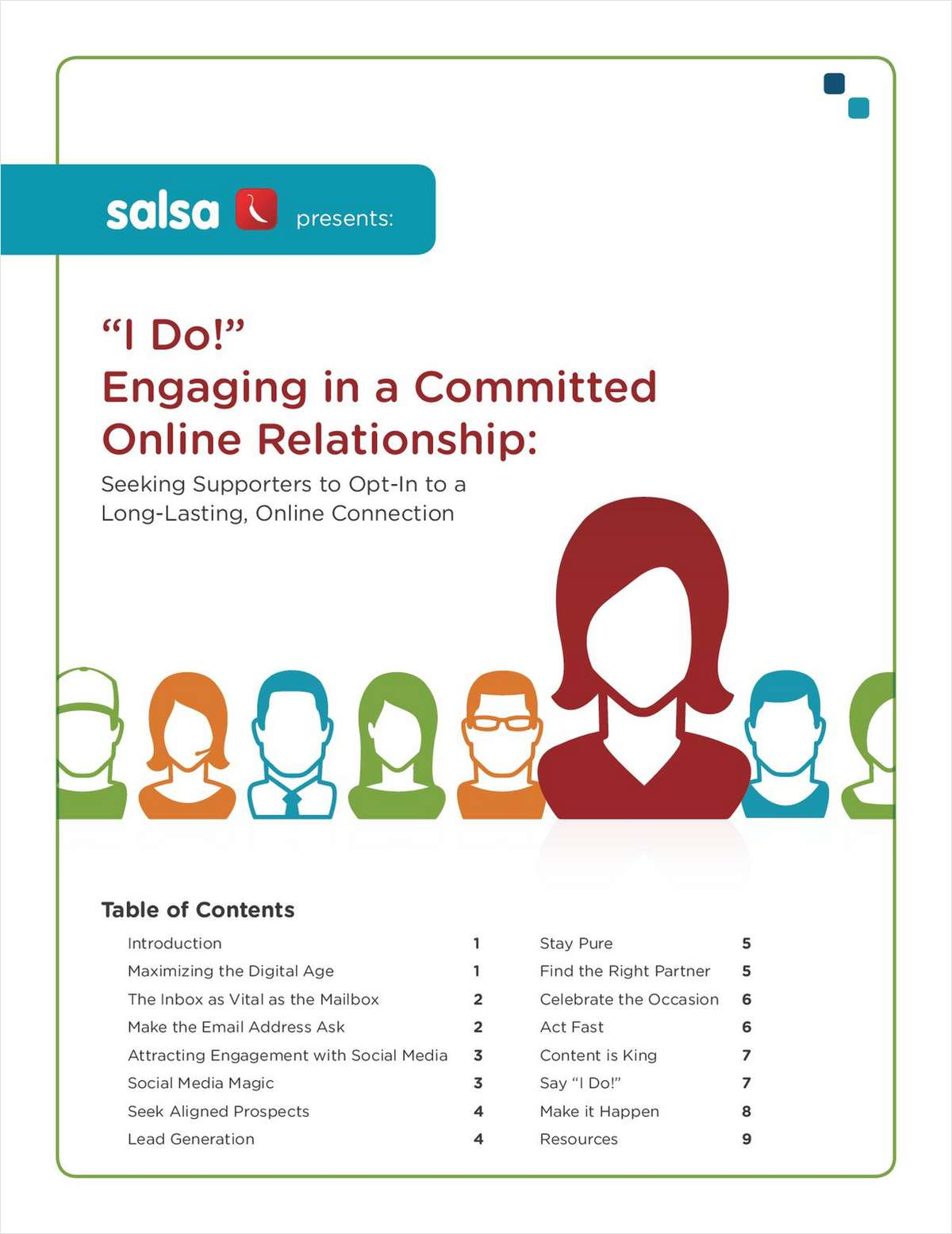 'I Do!' Engaging in a Committed Online Relationship: How to Grow Your Base of Support Online