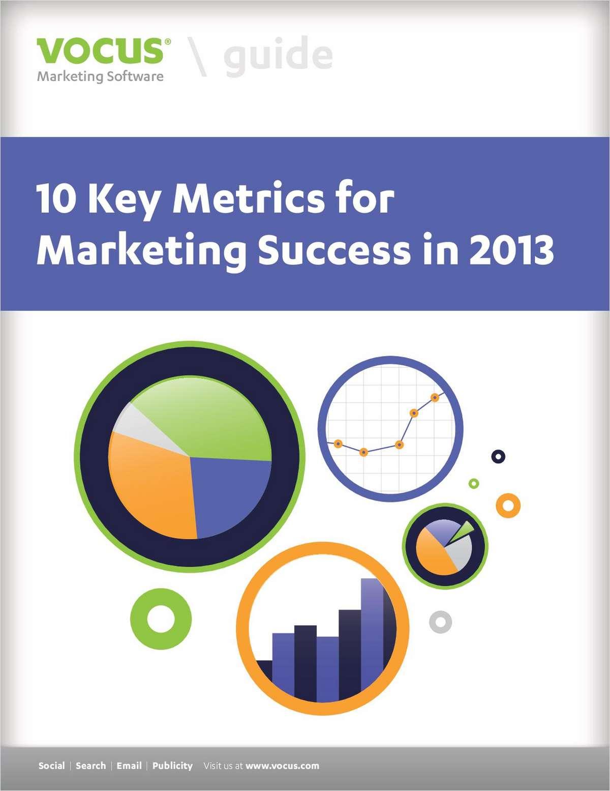 10 Metrics for 2013 Marketing Success