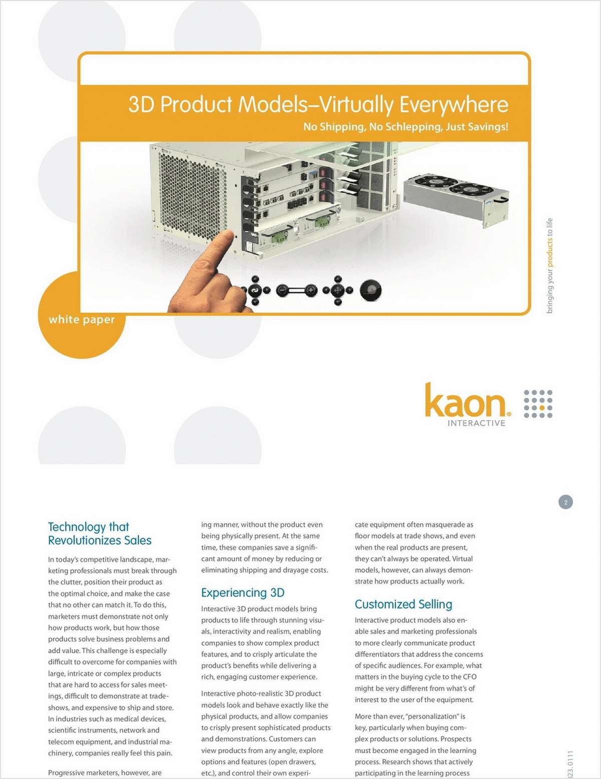 3D Product Demonstrations - Virtually Everywhere