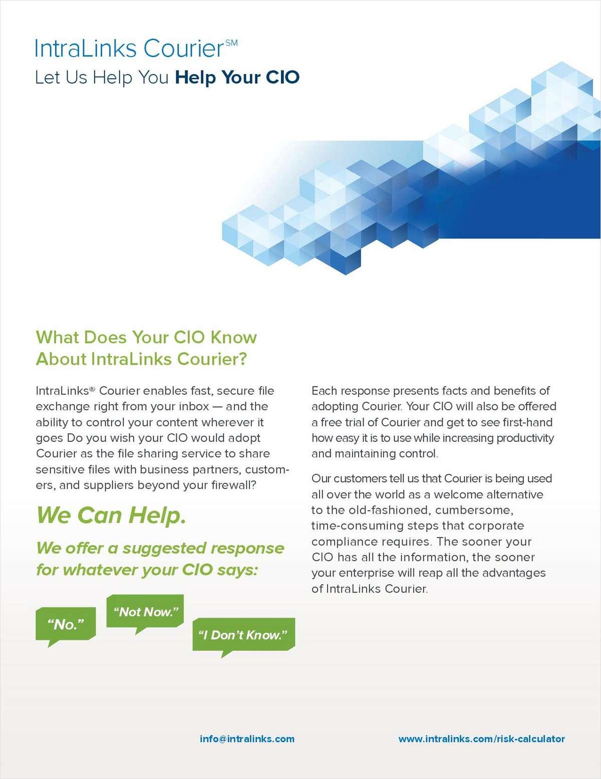 Let Us Help You Help Your CIO