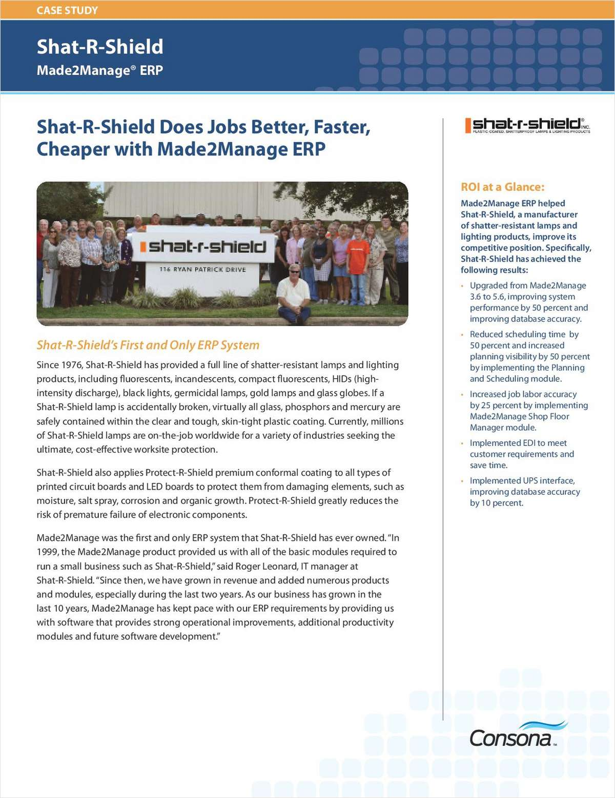 Shat-R-Shield Made2Manage® ERP