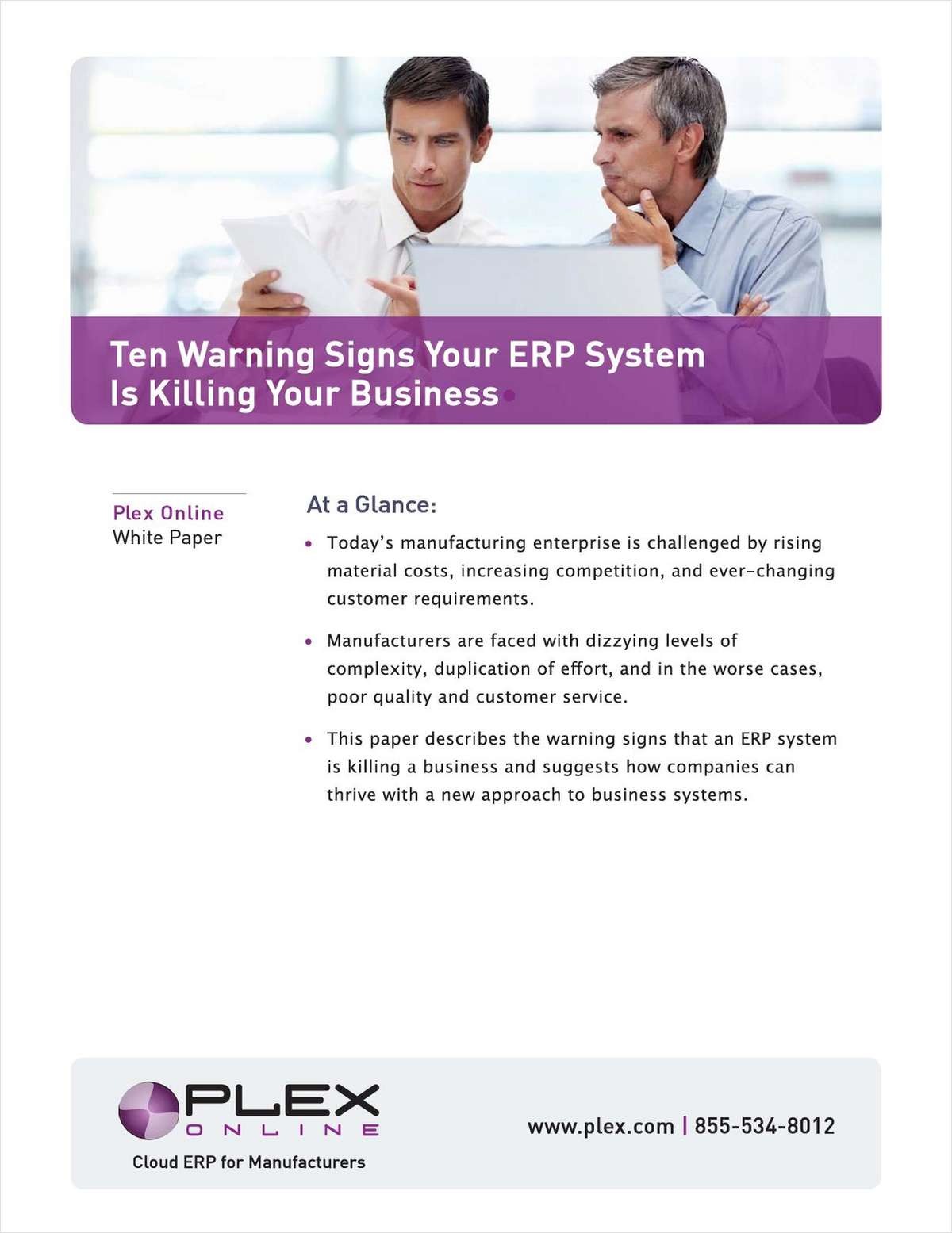 Is Your ERP Killing Your Manufacturing Business? The 10 Warning Signs