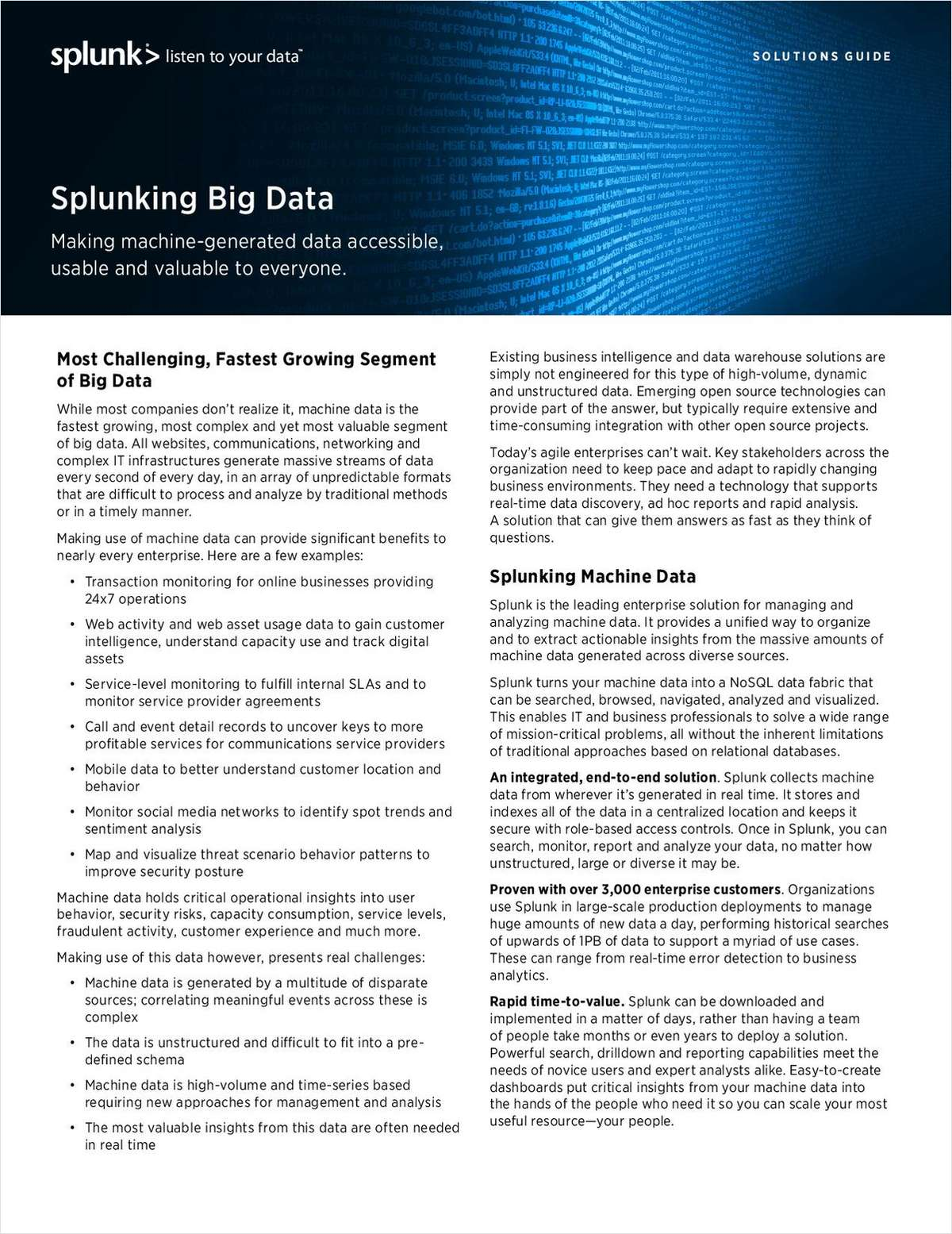 Splunk for Big Data