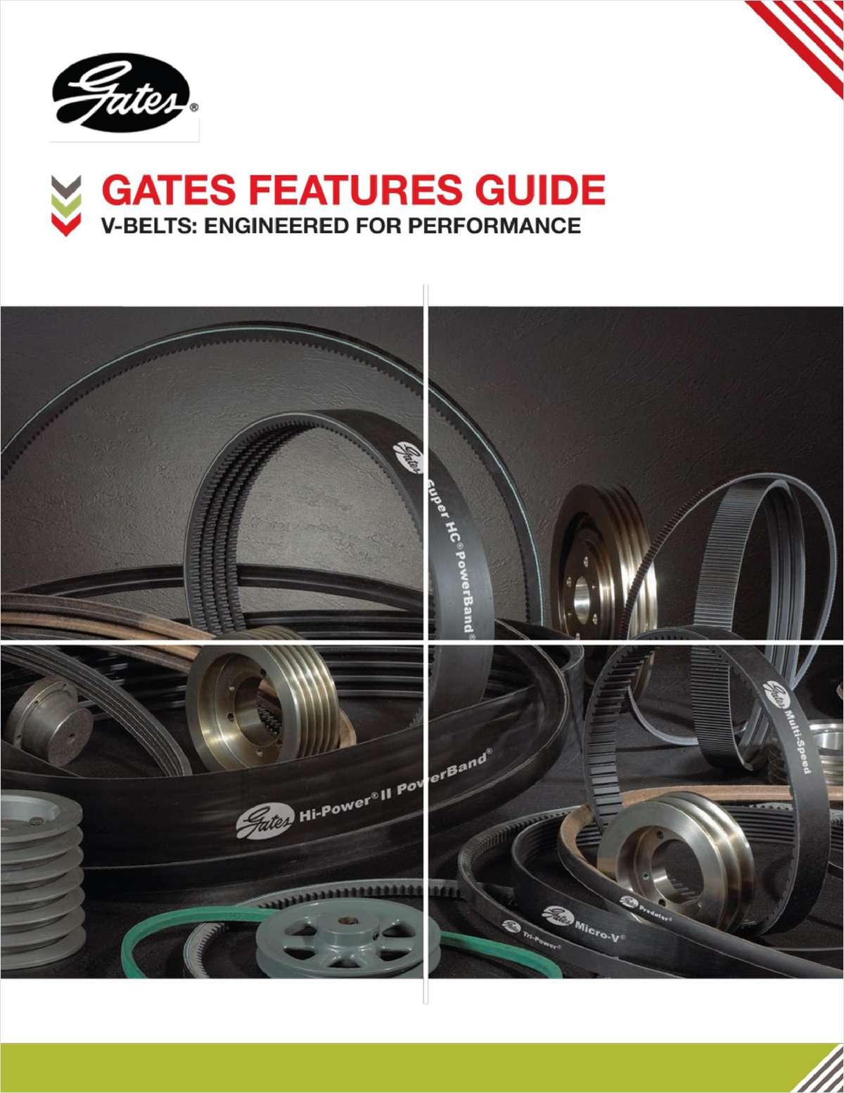 Gates V-Belts: Engineered for Performance