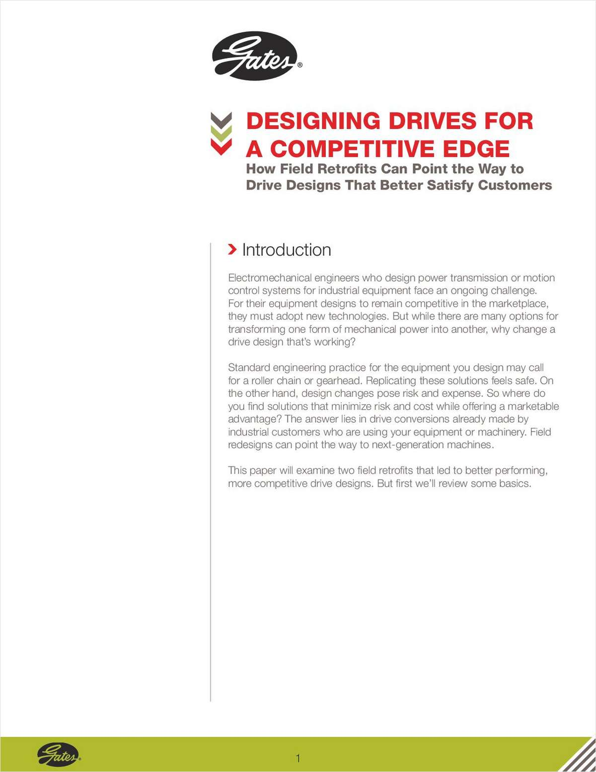 Designing Drives for a Competitive Edge