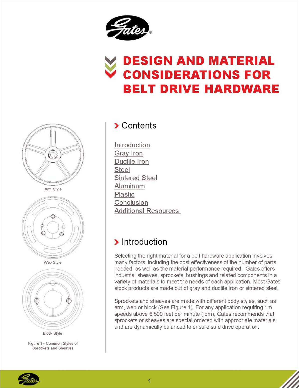 Design and Material Considerations for Belt Drive Hardware
