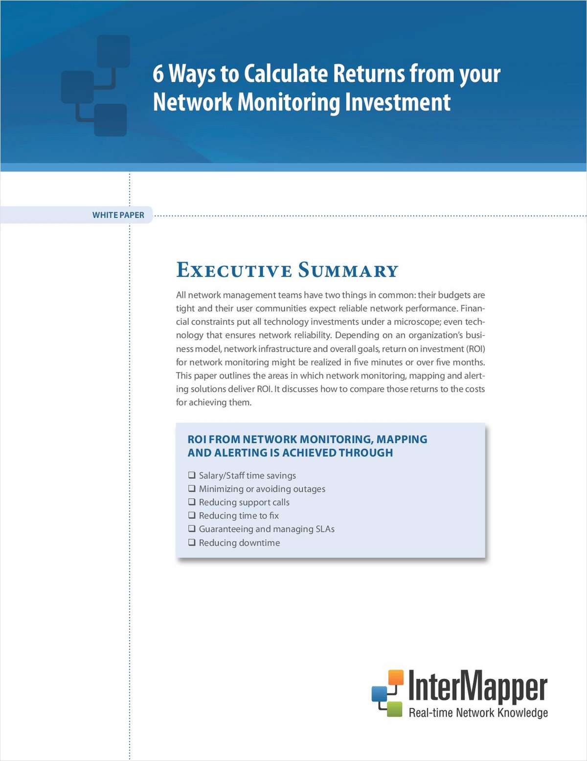 6 Ways to Calculate Returns from Your Network Monitoring Investment
