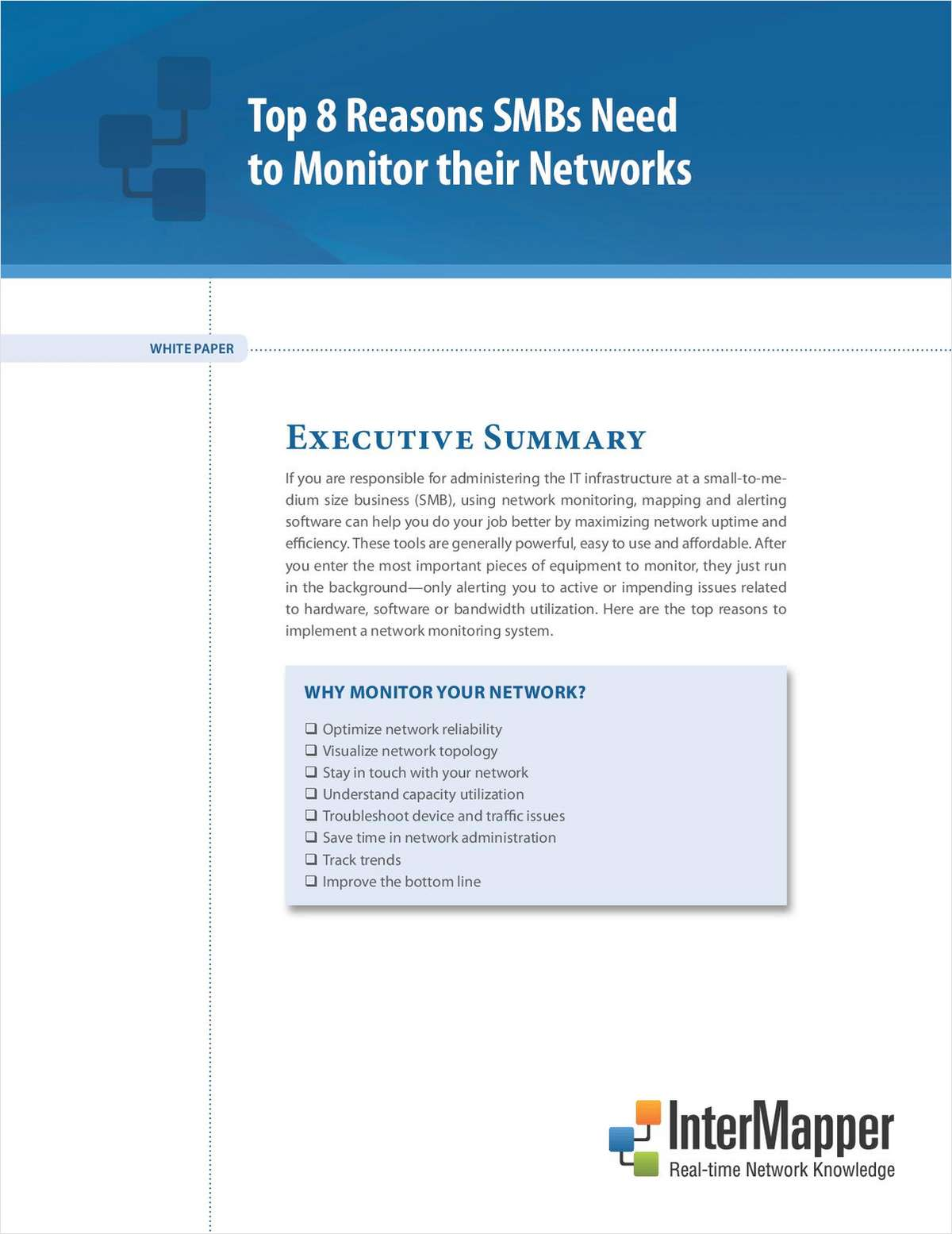 Top 8 Reasons SMBs Need to Monitor their Networks