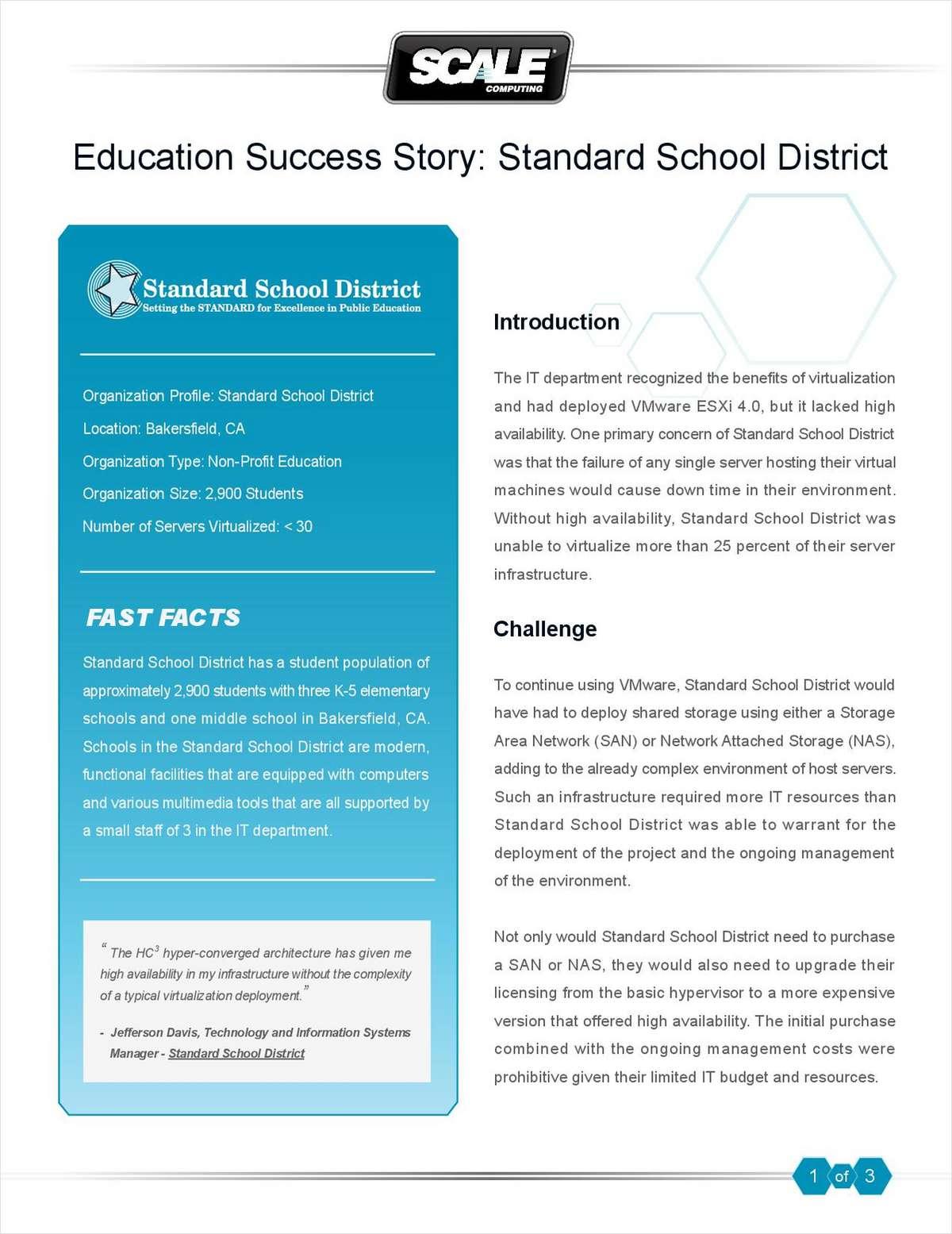Education Success Story: Standard School District