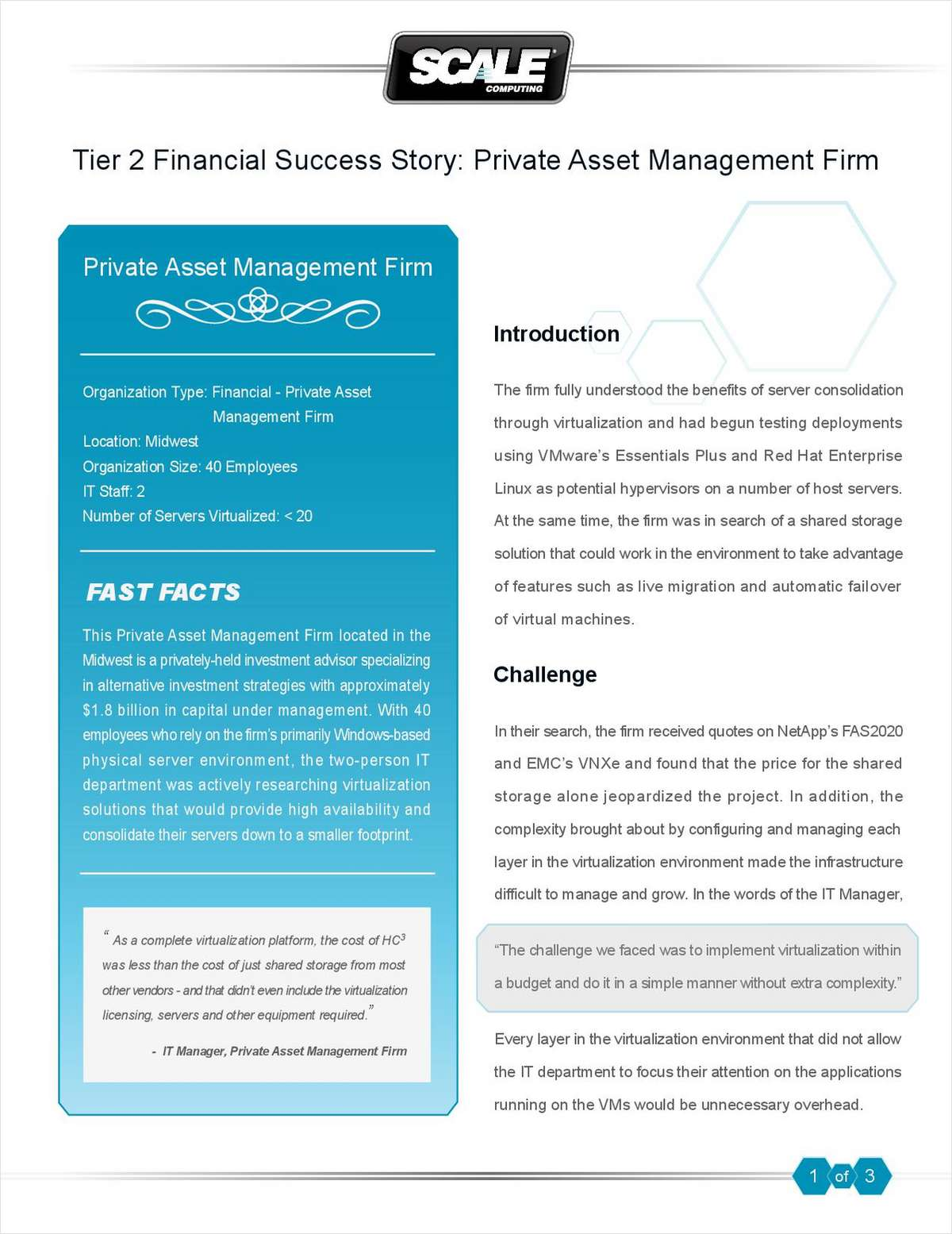 Tier 2 Financial Success Story: Private Asset Management Firm